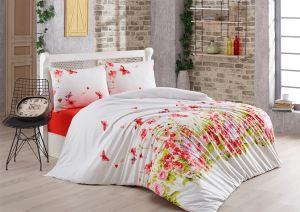 Evlen Home 4 Parça Cennet Kırmızı Çift Kişilik Nevresim Takımı NEV-00021