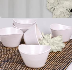 Keramika 6 Parça 11 Cm Tigela Mat Beyaz Çerezlik/Sosluk