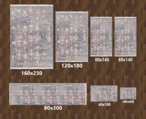 Halı m&y Life Dot Tabanlı 7 Parça Halı Seti D-449