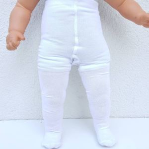 Beyaz Bebek Külotlu Çorap