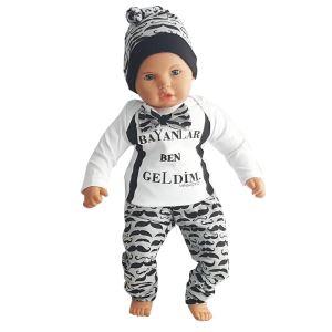 Bayanlar Ben Geldim 3 lü Zıbınlı Erkek Bebek Takımı