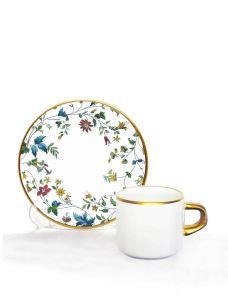 Asena Türk Kahve Seti 6 lı Porto Flowers