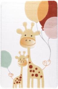 Confetti Home Happy Giraffe Sarı Oymalı Çocuk Halısı
