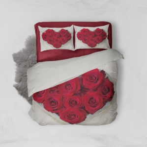 Minteks Çift Kişilik 3D Nevresim Takımı - Red Rose- 16155