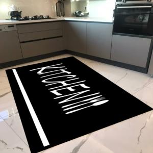 Milano Halı Kaymaz Tabanlı Mutfak Halısı Yıkanabilir Dot Taban HM-591