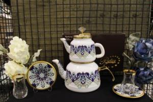 Beyler Vintage Çaydanlık Ve Çay Seti Lale