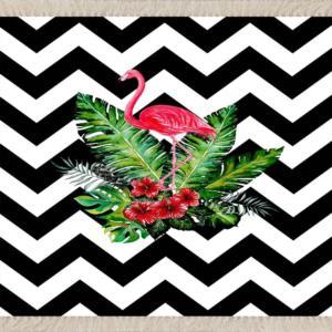 Meg Cloud Flamingo Desenli Dijital Baskı Yıkanabilir Halı MEG152-2
