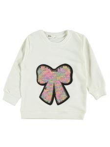 Civil Girls Kız Çocuk Sweatshirt 2-5 Yaş Ekru