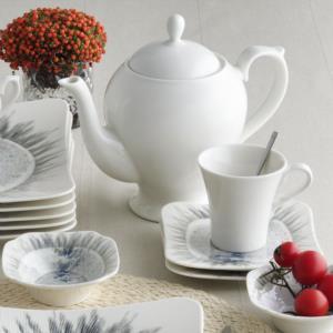 Güral Porselen 36 Parça Spinoza Kare Kahvaltı Takımı