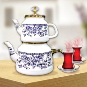 Beyler Vintage Çaydanlık Blue