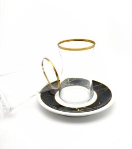 Özcam Kristal 12 Parça Tabak Desenli Çay Takımı D-1630