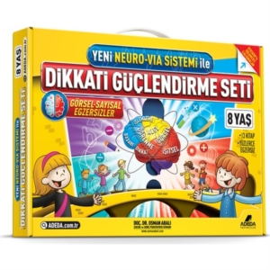 Yeni Neuro-Via Sistemi ile Dikkati Güçlendirme Seti 8 Yaş (3 Kitap)-Osman Abalı