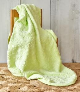 Karaca Home Candy Yeşil Bebek Embosy Battaniye