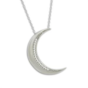 Ay Desenli Gümüş Hayalet Kolye KL434