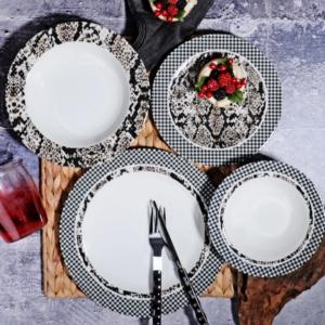 Kosova 24 Parça Porselen Yemek Takımı POR-264 24 VETKO