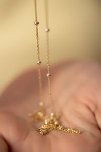 Toplu Model Altın Kaplama Gümüş Kolye