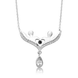 Gümüş Aşıklar Bayan Kolye