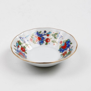 Kütahya Porselen Acem El Yapımı 6 Adet Çay Tabağı 458 Desen