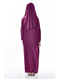 Ayfa Tek Parça Mor Namaz Elbisesi Beden 2 AYFA900