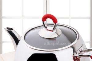 Sofram Aile Boy Venüs Kırmızı Çaydanlık Takımı