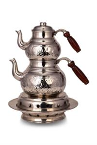 Saint Belisama Klasik Isıtıcılı Kalın Bakır Çaydanlık Orta Boy El İşlemeli SB19572