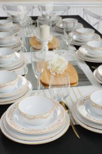 Keramika Riva Beyaz Gold Yemek Takımı 48 Parça 12 Kişilik
