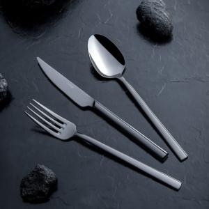 Nehir 84 Parça Dalyan Titanium Siyah Deri Kutulu Çatal Kaşık Takımı