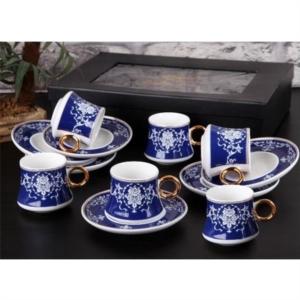 Gönül Porselen Yaldızlı Kahve Fincan Takımı G1864