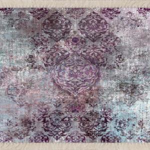 Meg Cloud Osmanlı Motifler Desenli Etnik Dijital Yıkanabilir Kaymaz Salon Halı MEG1380
