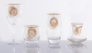 Royal Kristal 61 Parça Cam Set 7003 Gold