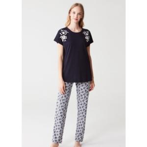 Mod Collection 3267 Bayan Pijama Takımı Lacivert