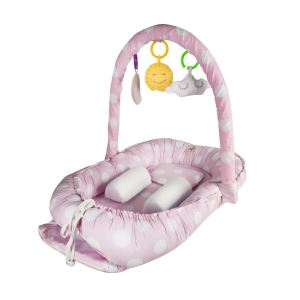 Babyjem Oyuncaklı Anne Baba Yanı Yatağı Pembe