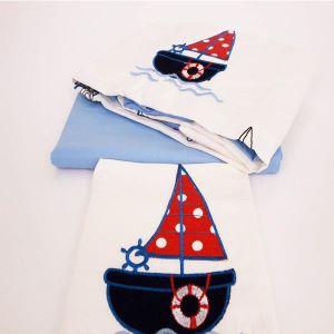 Çapa Home Bebek Nevresim Takımı Sailboat Blue