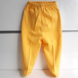 Patikli Sarı Tek Alt Bebek Penye Pantolon