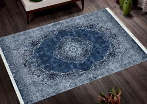 Pandora Dijital Baskılı Dod Tabanlı Halı Venüs Mavi