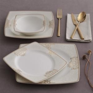 Güral Porselen 85 Parça Kare Caroline Bone Yemek Takımı 5686