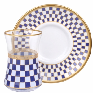 Royal Kristal 12 Parça Carina Çay Bardak Seti