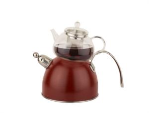 Tantitoni Chef Nature Kırmızı Düdüklü Çaydanlık Tk. 980Ml 2300Ml TANTI A30002829C