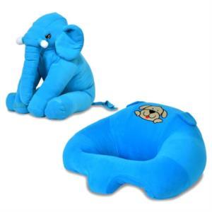 Prado Bebek Destek Minderi Uyku Arkadaşı Fil Yastık Seti Mavi