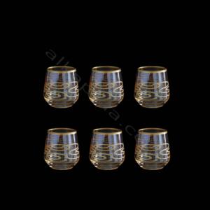Çınar Kristal 6 Adet Zincir Amber Fıçı Kahve Yani Bardak
