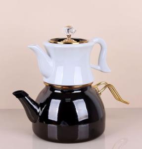 Bastonlu Züccaciye Metalik Vintage Çaydanlık
