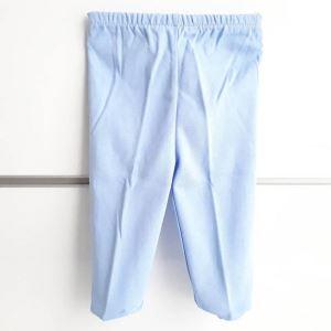 Patikli Mavi Tek Alt Bebek Penye Pantolon