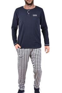 Tom John Erkek Pijama Takımı Büyük Beden Uzun Kollu