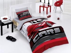 Belenay Tek Kişilik Nevresim Takımı -Sport Cars Kırmızı