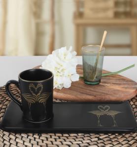 Keramika Flamingo Gold Kahve Sunum Seti 2 Parça