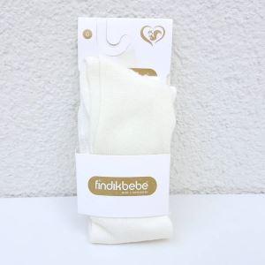 Krem Bebek Külotlu Çorap