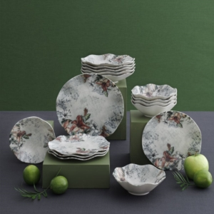 Güral Porselen 24 Parça Nesrin Bone Yemek Seti Elegant DG 1156