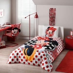 Taç  3478 Lisanslı Dört Mevsim Set Tek Kişilik Disney Minnie Mouse