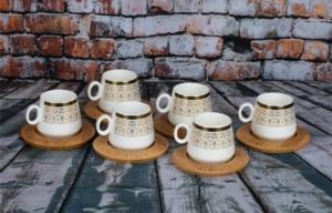 Arow Bambu Kahve Fincanı Takımı 12 Parça TR-591