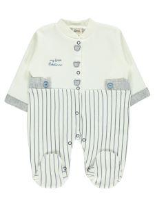 Civil Baby Erkek Bebek Patikli Tulum 0-3 Ay Lacivert